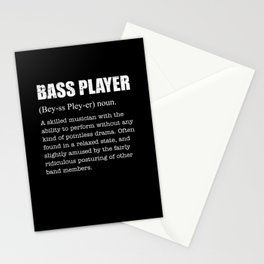 Funny Bass Player Definition Gift Musician Stationery Cards