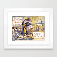 Woman suffrage procession March 3, 1913 Framed Art Print
