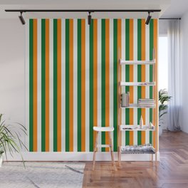 Team Colors 4... orange green white Wall Mural