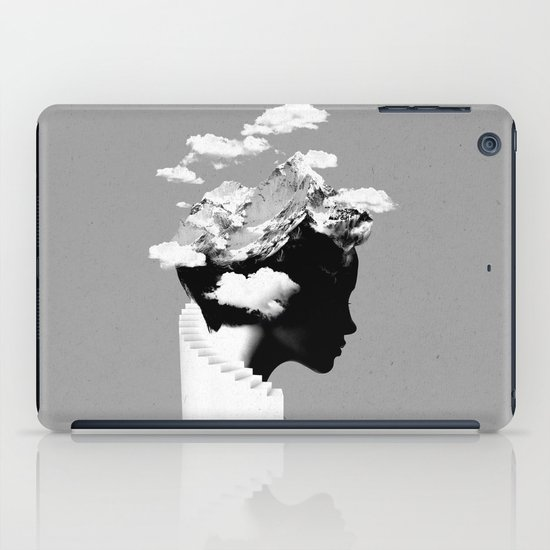 It's a cloudy day iPad Case