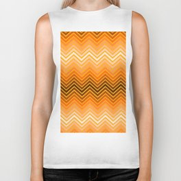 Orange chevron Biker Tank