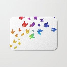 Rainbow Butterflies Bath Mat