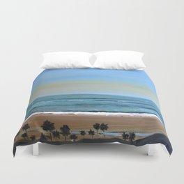 Santa Monica Beach Bluffs - California Art Duvet Cover