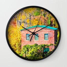 Fall Colors And The Old Roswell Mill Wall Clock