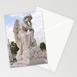 Necropolis Graveyard Statue Angel Marble Cuba Island Carving Art Icon Christian Saint Holy God Cemet Stationery Cards