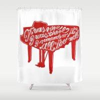 lyrics Shower Curtains featuring Piano lyrics by saralucasi