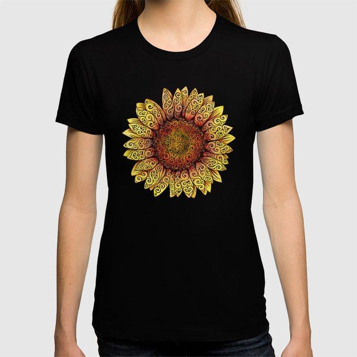 Swirly Sunflower T-shirt