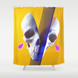 Sad skull Shower Curtain