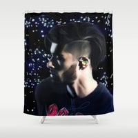 zayn Shower Curtains featuring Zayn OTRA by Clara J Aira