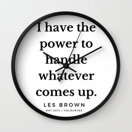 35 |  Les Brown  Quotes | 190824 Wall Clock