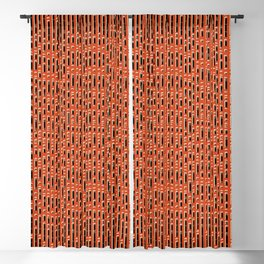 Red wicker background Blackout Curtain