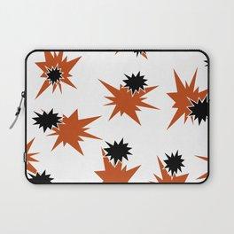 Stars (Orange & Black on White) Laptop Sleeve