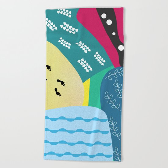 Abstract summer route Beach Towel