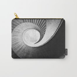 Spirals  in black and while Carry-All Pouch