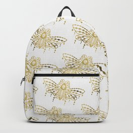 Death's Head Hawkmoth – Gold Palette Backpack