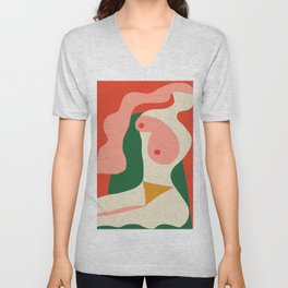 abstract nude 2 Unisex V-Neck