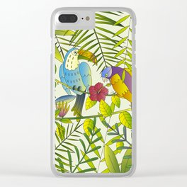 Tropical Paradise Pattern 1 Clear iPhone Case