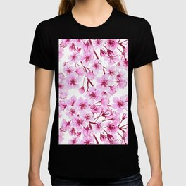 Cherry blossom pattern T-shirt