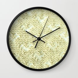 Lace knitting detail Wall Clock