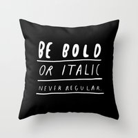 italy Throw Pillows featuring NEVER by WASTED RITA