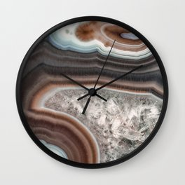 Dragon mouth agate geode Wall Clock