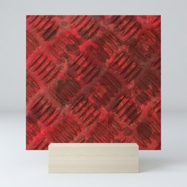 Industrial Red Metal Mini Art Print