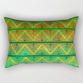 Green Jubilation Rectangular Pillow