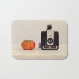 Persimmon and a Brownie Bath Mat