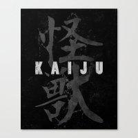 kaiju Canvas Prints featuring KAIJU by Mikio Murakami
