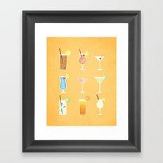 Mixed Drinks Framed Art Print