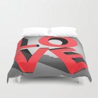 kiss Duvet Covers featuring kiss by mark ashkenazi