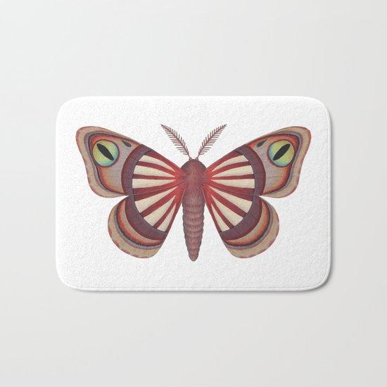 demon (made up moth) Bath Mat