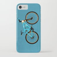 brompton iPhone & iPod Cases featuring Mountain Bike by Wyatt Design