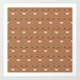Rudolph Clones (Patterns Please) Art Print