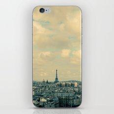 Paris In Blue iPhone & iPod Skin