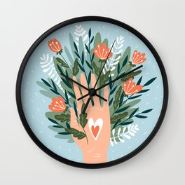Good vibes of nature Wall Clock
