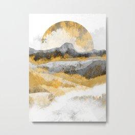 The golden misty peaks Metal Print