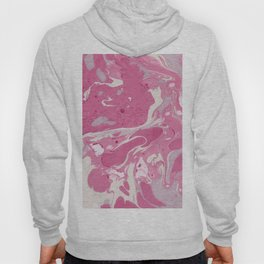 Soft Rose and Cream Marble Pattern Hoody
