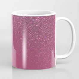 Diagonal Berry Pink Glitter Gradient Ombre Coffee Mug