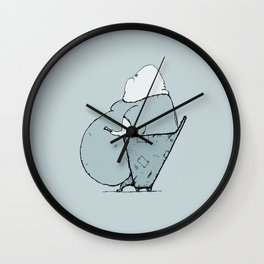 Switching Channels Wall Clock