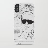 karl iPhone & iPod Cases featuring Karl Lagerfeld by CLSNYC