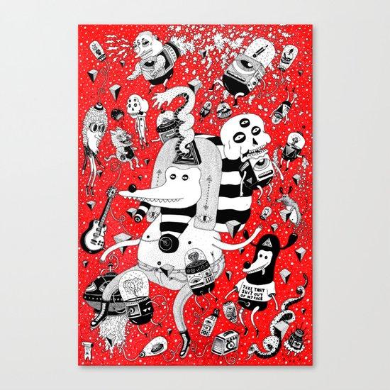 rot zeichentusche  Canvas Print