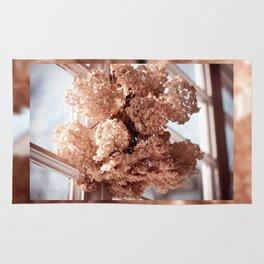 hortensia dried flowers hanging Rug