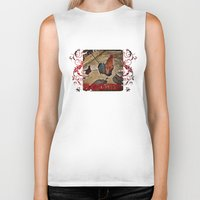 rooster Biker Tanks featuring Rooster by Justin Alan Casey