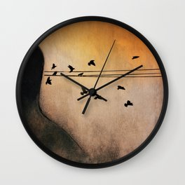Sometimes They Just Fly Out Of My Head Wall Clock