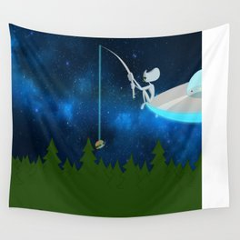 Fishing for Humans Wall Tapestry