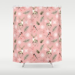 Xmas Pattern Pink #socieyt6 #buyart Shower Curtain