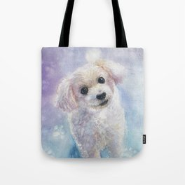 Watercolor Toypoodle Dog Art Tote Bag