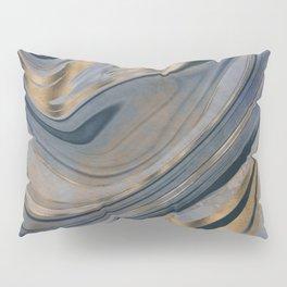 Shiny Marble Gemstone Blue Copper Pillow Sham
