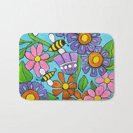 Springtime Series #4 Bee's Bath Mat